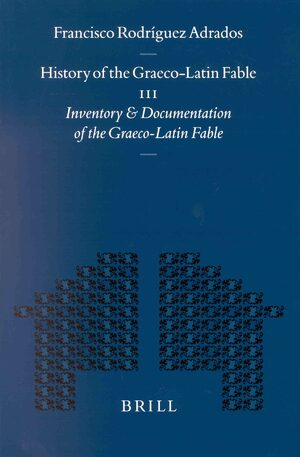 Cover History of the Graeco-Latin Fable