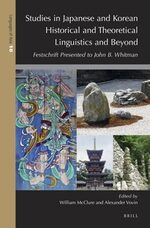 Cover Studies in Japanese and Korean Historical and Theoretical Linguistics and Beyond