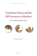 Cover Translation Theory and the Old Testament in Matthew