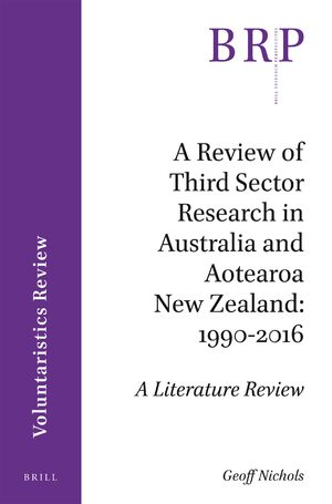 Cover A Review of Third Sector Research in Australia and Aotearoa New Zealand: 1990-2016