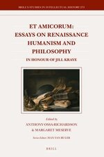 Cover Et Amicorum: Essays on Renaissance Humanism and Philosophy