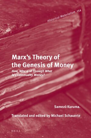 Cover Marx's Theory of the Genesis of Money