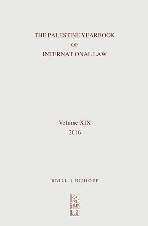 Cover The Palestine Yearbook of International Law, Volume 19 (2016)