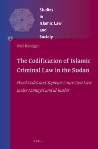 Cover The Codification of Islamic Criminal Law in the Sudan