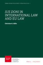 Cover <i>Ius Doni</i> in International Law and EU Law