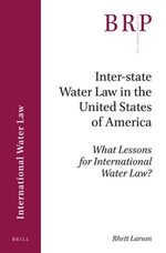 Cover Inter-state Water Law in the United States of America