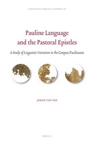 Cover Pauline Language and the Pastoral Epistles