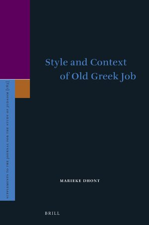 Style and Context of Old Greek Job