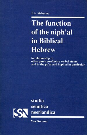 Cover The Function of the <i>niph'al</i> in Biblical Hebrew