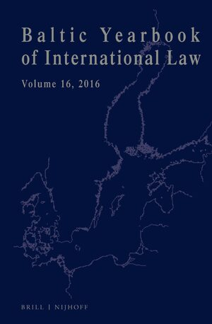 Cover Baltic Yearbook of International Law, Volume 16 (2016)