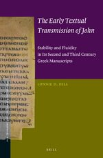 Cover The Early Textual Transmission of John