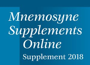Cover Mnemosyne Supplements Online, Supplement 2018
