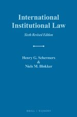 Cover International Institutional Law