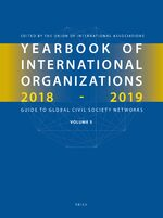Cover Yearbook of International Organizations 2018-2019, Volume 5