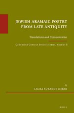 Cover Jewish Aramaic Poetry from Late Antiquity