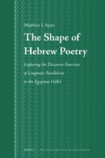 Cover The Shape of Hebrew Poetry