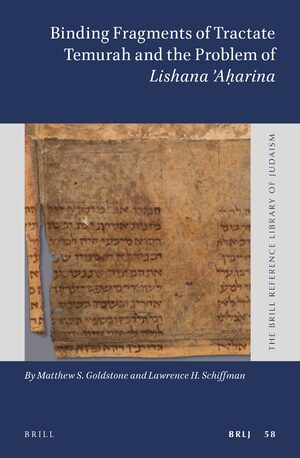 Cover Binding Fragments of Tractate Temurah and the Problem of <i>Lishana Aḥarina</i>