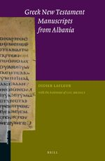 Cover Greek New Testament Manuscripts from Albania