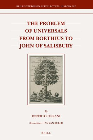 Cover The Problem of Universals from Boethius to John of Salisbury