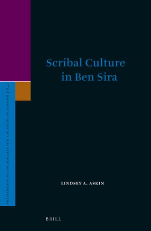 Cover Scribal Culture in Ben Sira