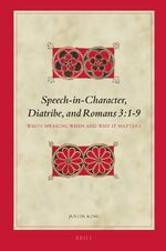 Cover Speech-in-Character, Diatribe, and Romans 3:1-9