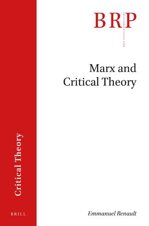 Cover Marx and Critical Theory