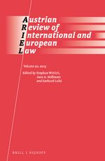 Cover Austrian Review of International and European Law, Volume 20 (2015)