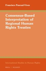 Cover Consensus-Based Interpretation of Regional Human Rights Treaties