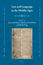 Cover Law and Language in the Middle Ages