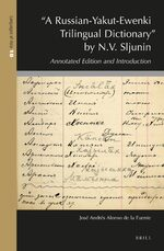 """A Russian-Yakut-Ewenki Trilingual Dictionary"" by N.V. Sljunin"