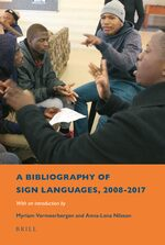Cover A Bibliography of Sign Languages, 2008-2017
