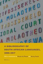 A Bibliography of South African Languages, 2008-2017