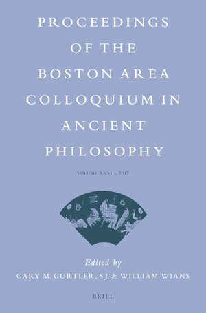 Cover Proceedings of the Boston Area Colloquium in Ancient Philosophy