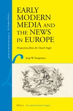 Early Modern Media and the News in Europe