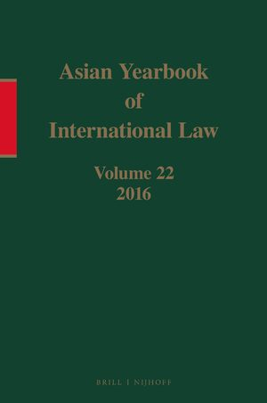 Cover Asian Yearbook of International Law, Volume 22 (2016)