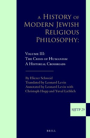 A History of Modern Jewish Religious Philosophy