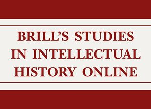 Cover Brill's Studies in Intellectual History Online, Supplement 2019