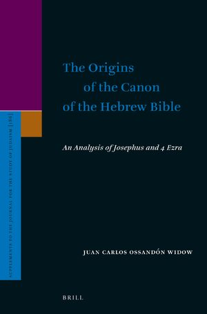 Cover The Origins of the Canon of the Hebrew Bible