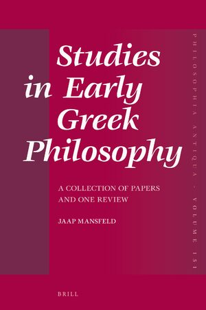 Cover Studies in Early Greek Philosophy