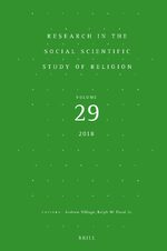 Cover Research in the Social Scientific Study of Religion, Volume 29