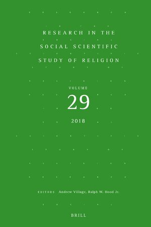 Research in the Social Scientific Study of Religion, Volume 29