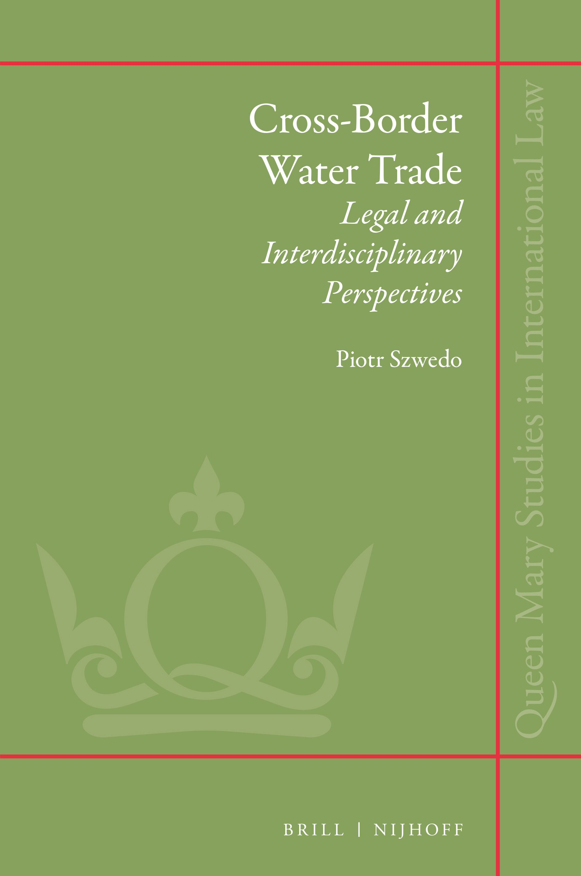 Water as an Article of Trade in Wto Law in: Cross-border ...