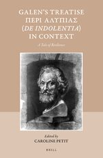Cover Galen's Treatise Περὶ Ἀλυπίας (<i>De indolentia</i>) in Context