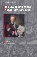 Cover The Law of Nations and Natural Law 1625-1800