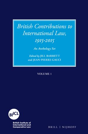 Cover British Contributions to International Law, 1915-2015 (Set)