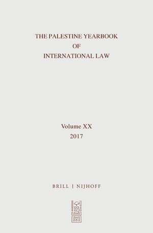 Cover The Palestine Yearbook of International Law, Volume 20 (2017)