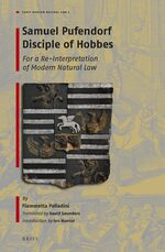 Cover Samuel Pufendorf Disciple of Hobbes