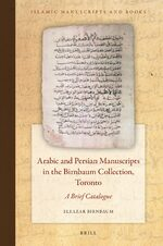 Cover Arabic and Persian Manuscripts in the Birnbaum Collection, Toronto