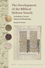 Cover The Development of the Biblical Hebrew vowels
