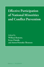 Cover Effective Participation of National Minorities and Conflict Prevention